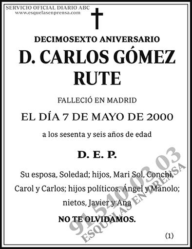 Carlos Gómez Rute